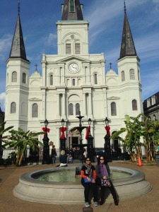 Jackson Square Park and the cathedral